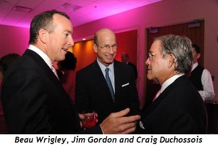 Blog 6 - Beau Wrigley, Jim Gordon and Craig Duchossois