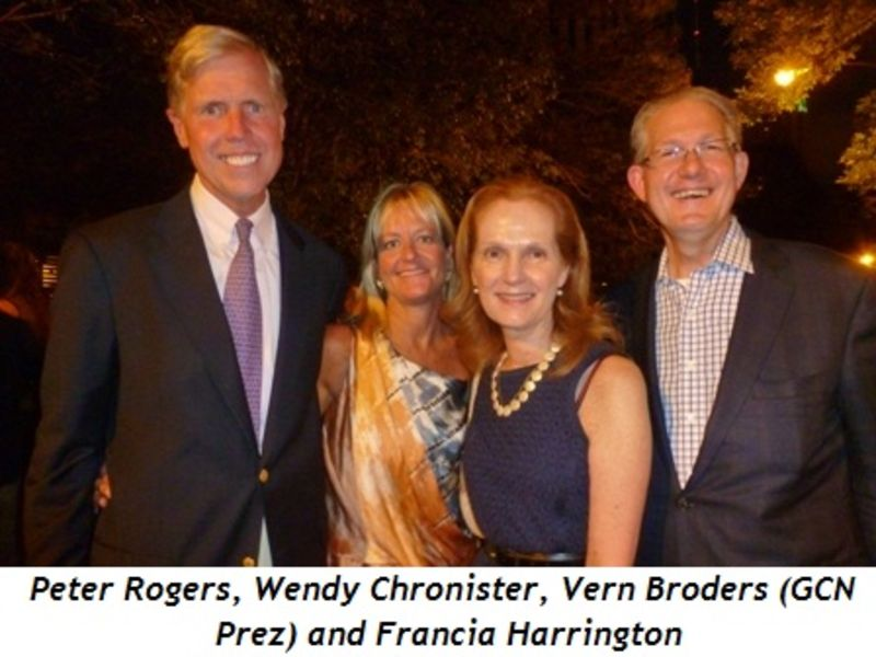 Blog 2 - Peter Rogers, Wendy Chronister, Vern Broders (GCN Prez) and Francia Harrington