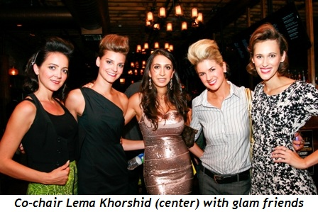 Blog 1 - Co-chair Lema Khorshid (middle) with glam friends