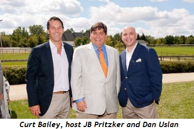 Curt Bailey, host JB Pritzker and Dan Uslan