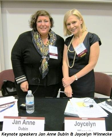 Blog 1 - Keynote speakers Jan Anne Dubin and Tribune's Joycelyn Winnecke