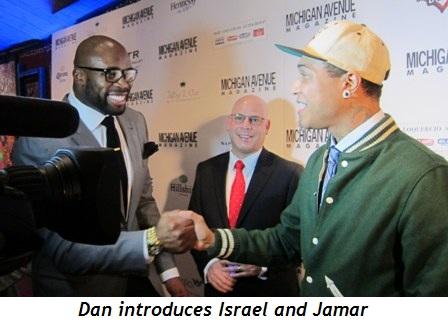 14 - Dan introduces two superstars, Israel Idonije and Jamar Rogers