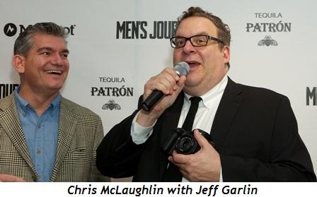 15 - Men's Journal publisher Chris McLaughlin with Jeff Garlin