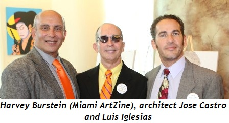 4 - Harvey Burstein (Miami ArtZine), architect Jose Castro and Luis Iglesias