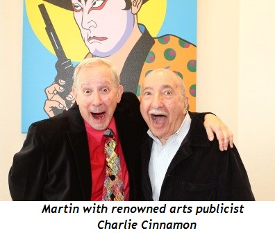 10 - Martin with renowned arts publicist Charlie Cinnamon