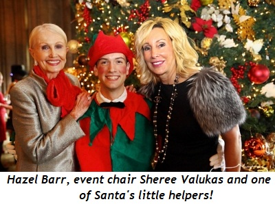 1 - Hazel Barr, elf and event chair Sheree Valukas