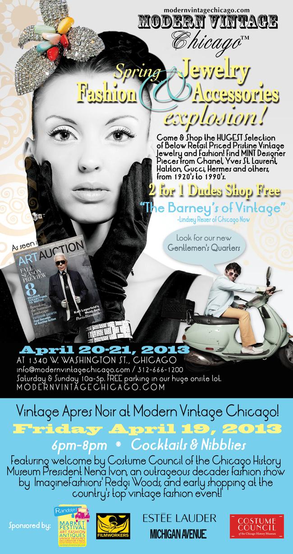 Modern Vintage Chicago-Randolph St. market ad