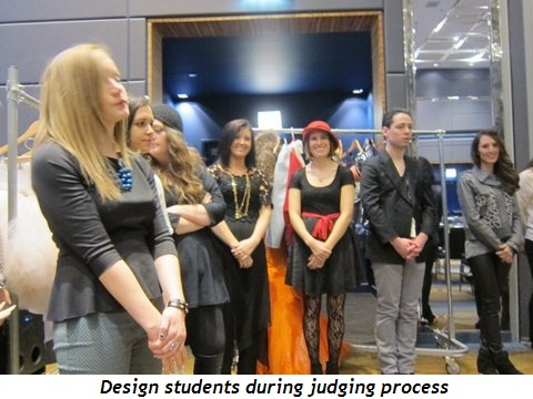 9 - Design students during judging process