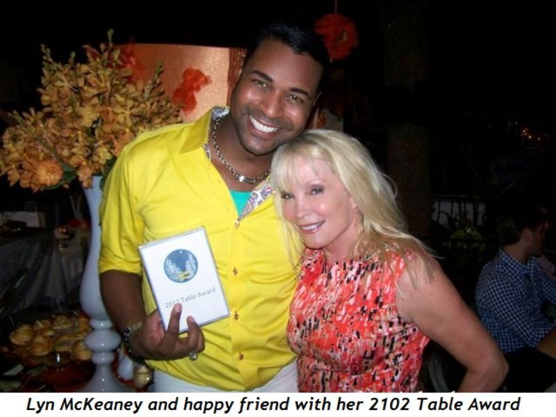 Blog 3 - Lyn McKeaney and happy friend with her 2012 Table Award