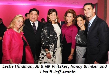 Blog 2 - Leslie Hindman, J.B. and M.K. Pritzker, Nancy Brinker, Lisa and Jeff Aronin