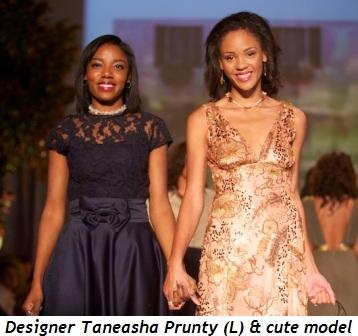 Blog 3 - Designer Taneasha Prunty (L) and cute model