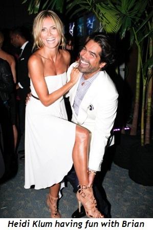 Blog 7 - Heidi Klum having fun with Brian!