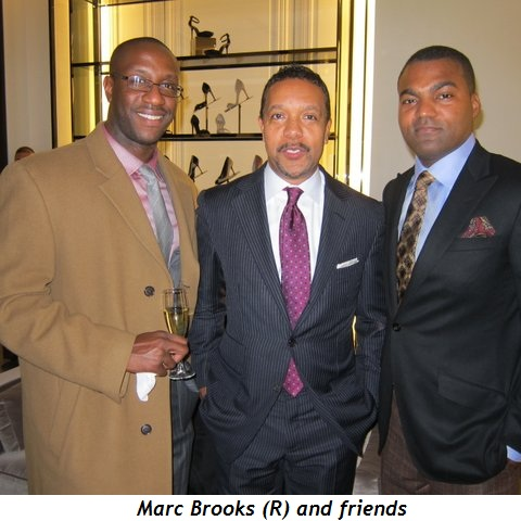 Marc Brooks (R) and friends