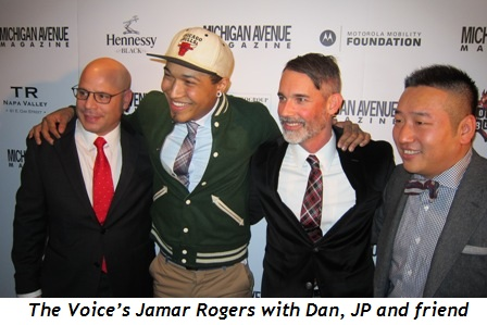 5 - The Voice's Jamar Rogers with Dan, JP and friend