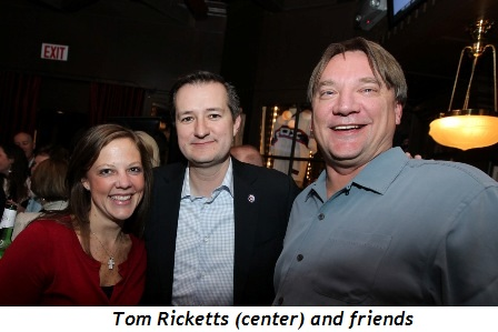 6 - Tom Ricketts (center) and friends