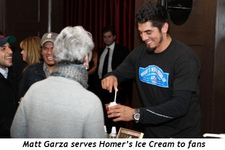 8 - Matt Garza serves Homer's Ice Cream to fan