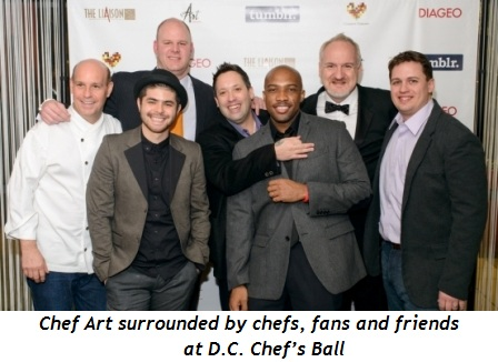 1 - Chef Art surrounded by chefs, fans and friends at D.C. Chef's Ball