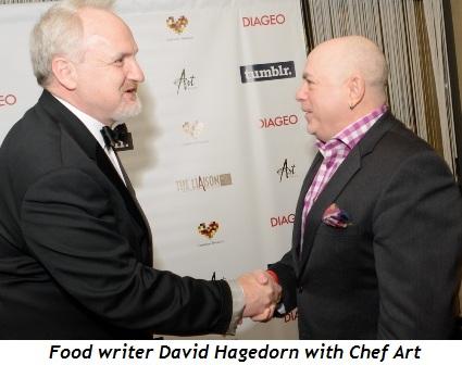 5 - Food writer David Hagedorn with Art