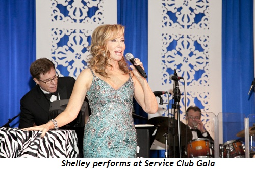 Shelley performs at Service Club Gala