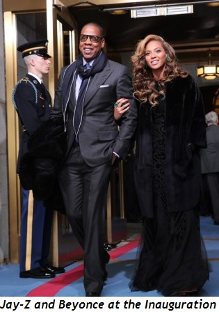 Beyonce and Jay-Z at Inauguration