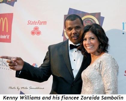 9 - Kenny Williams and his fiancee Zoraida Sambolin