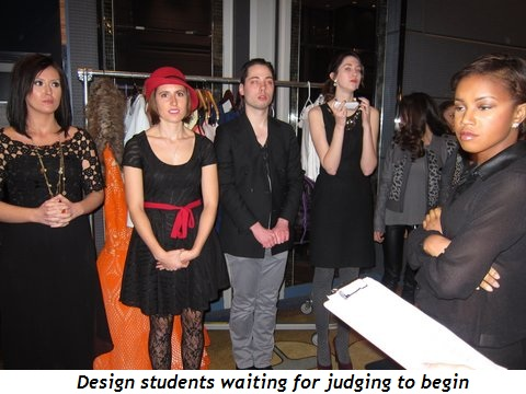15 - Design students waiting for judging to begin
