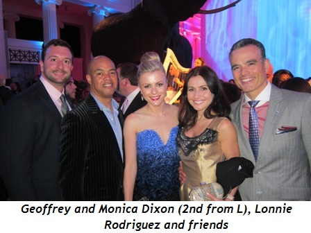 3 - Geoffrey and Monica Dixon (2nd from L), Lonnie Rodriguez and friends