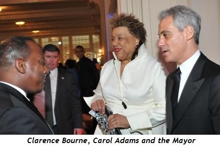 12 - Clarence Bourne, Carol Adams, Mayor