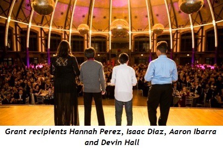 1 - Grant recipients Hannah Perez, Isaac Diaz, Aaron Ibarra and Devin Hall