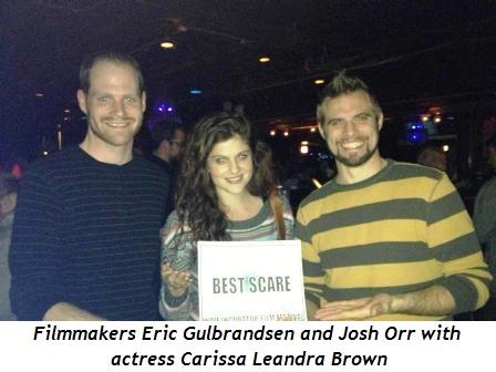 1 - Filmmakers Eric Gulbrandsen (L) and Josh Orr with actress Carissa Leandra Brown