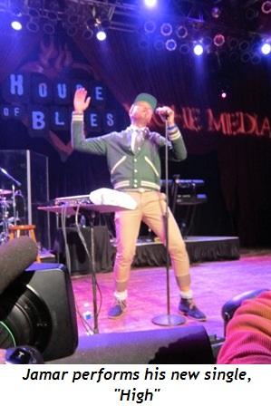 "10 - Jamar performs his new single, ""High"""