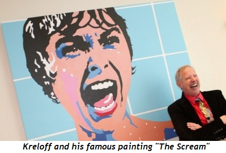 """2 - Artist Kreloff and his famous painting """"The Scream"""""""
