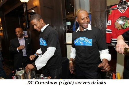 7 - DC Crenshaw (right) serves drinks