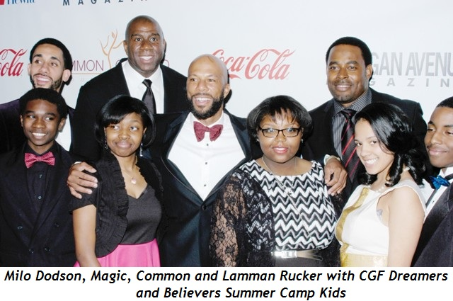 2 - Milo Dodson, Magic, Common and Lamman Rucker with CGF Dreamers and Believers Summer Camp Kids