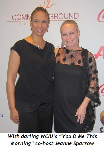 """13 - With darling WCIU's """"You & Me This Morning"""" co-host Jeanne Sparrow"""