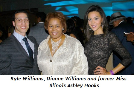 18 - Kyle Williams, Dionne Williams and former Miss Illinois Ashley Hooks