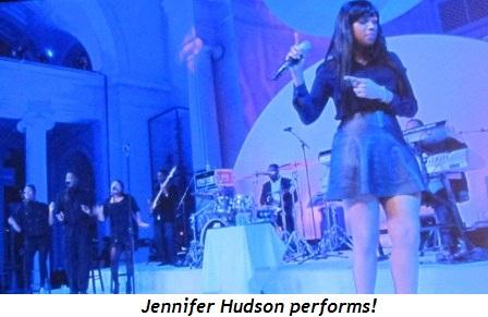 1 - Jennifer Hudson performs!