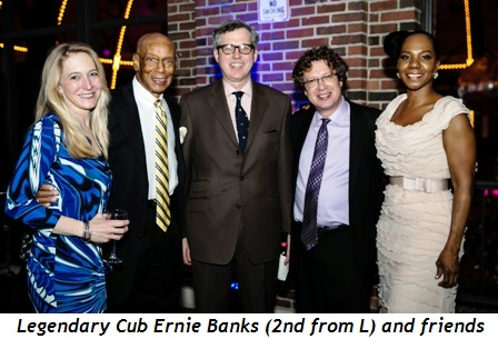 6 - Legendary Cub Ernie Banks (2nd from L) and friends