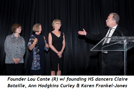6 - HS founder Lou Conte (R) with founding company dancers Claire Bataille, Ann Hodgkins Curley and Karen Frankel-Jones