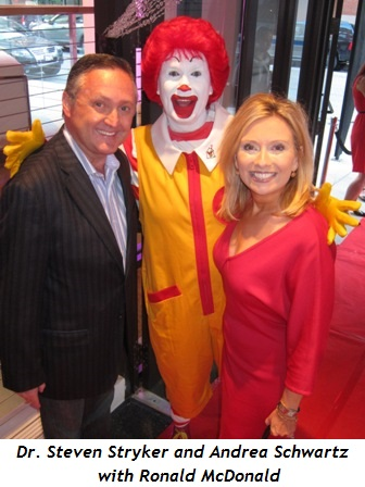 3 - Dr. Steven Stryker and Andrea Schwartz with Ronald McDonald
