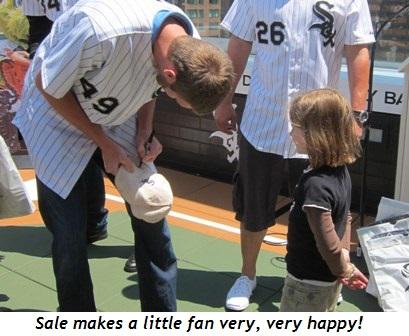 11 - Sale makes a little fan very, very happy!