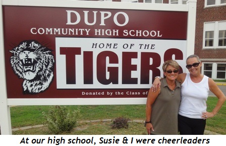 13 - At our high school, Susie and I were cheerleaders together