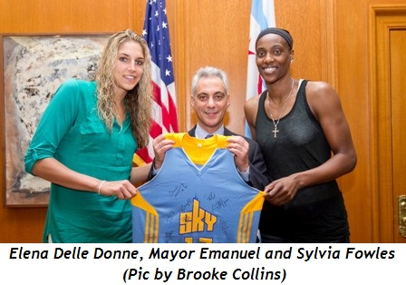2 - Elena Delle Donne, Mayor Emanuel and Sylvia Fowles (Pic by Brooke Collins)