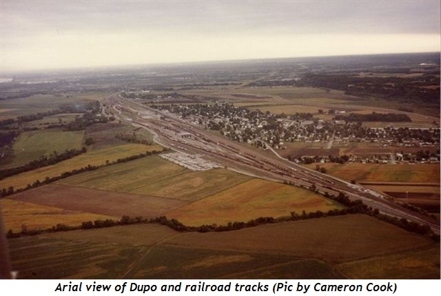 3 - Arial view of Dupo and railroad tracks Pic by Cameron Cook