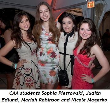 1 - CAA students Sophia Pietrowski, Judith Edlund, Mariah Robinson, Nicole Magerko