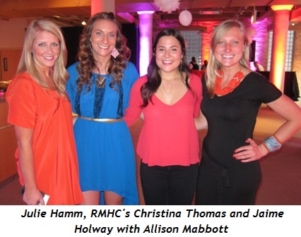 1 - Julie Hamm, RMHC's Christina Thomas and Jaime Holway with Allison Mabbott