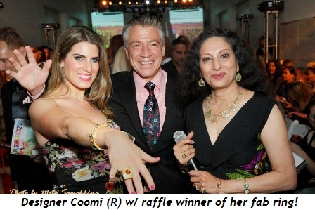 7 - Jewelry designer Coomi (R) with raffle winner of her fab ring!