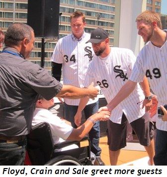 9 - Floyd, Crain and Sale greet more guests
