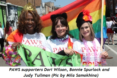 PAWS supporters Dori Wilson, Bonnie Spurlock and Judy Tullman (Pic by Mila Samokhina)