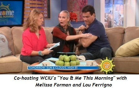 Co-hosting WCIU's You & Me This Morning with Melissa Forman and Lou Ferrigno
